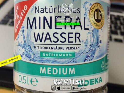 Mineralwasser mit Kohlensäure 0.5 l | Alkoholfreie Getränke | restiau