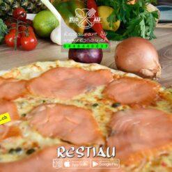Pizza Al Salmone   pizza   restiau