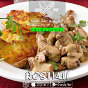 Kalbgeschnetzeltes - Fleischgerichte - restiau - restaurant zur au - resti au