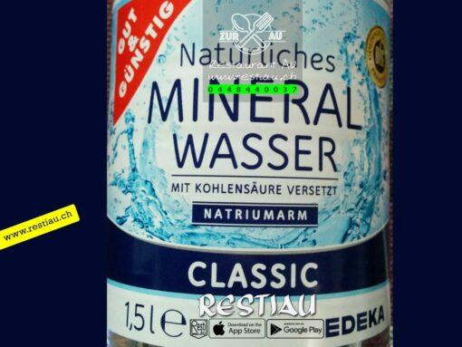 Mineralwasser mit Kohlensäure 1.5 l | Alkoholfreie Getränke | restiau
