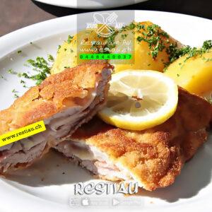 Cordon Bleu Zur Au vom Kalbs - Fleischgerichte - restiau - restaurant zur au - resti au