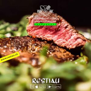 Lachsteak oder Zanderfilets - Fleischgerichte - restiau - restaurant zur au - resti au