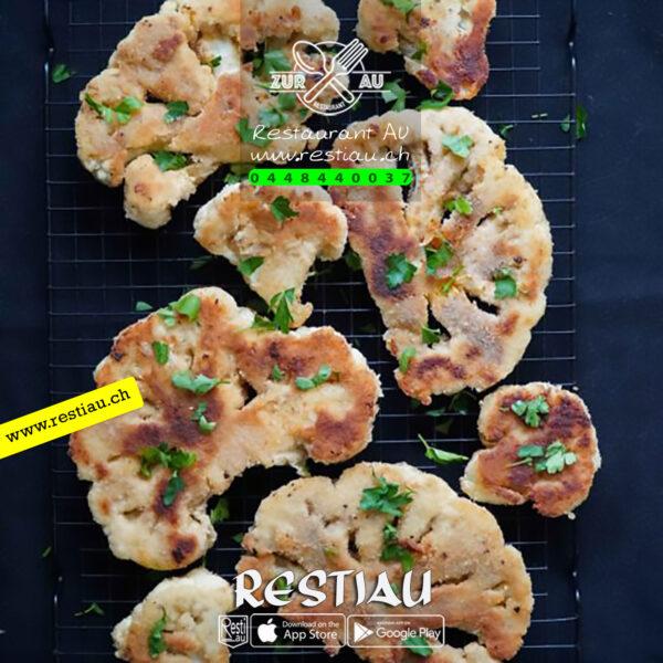 Panierte Schnitzel Kalbs - Fleischgerichte - restiau - restaurant zur au - resti au