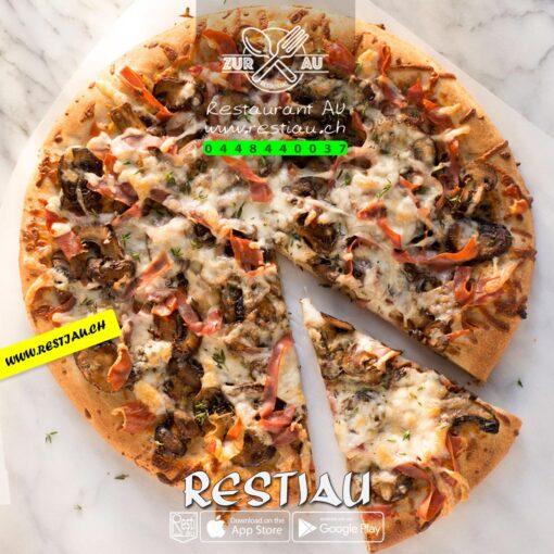 Pizza Prosciutto Fungi | restiau