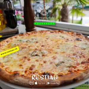 Quattro Formaggi - pizza -restiau - restaurant zur au - resti au