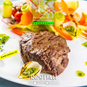 Rindsfilets Medaillon - Fleischgerichte - restiau - restaurant zur au - resti au
