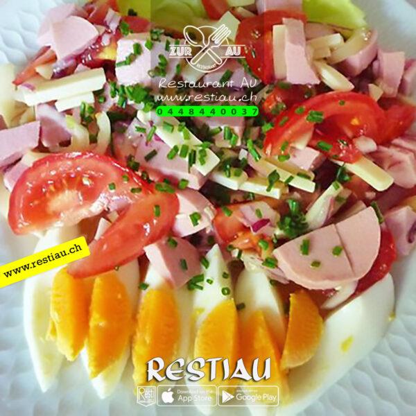 Wurst-Käse-Salat - Salate - restiau - restaurant zur au - resti au