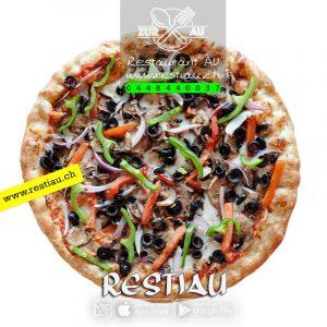 Pizza Contadino - Pizza - restiau - restaurant zur au - resti au