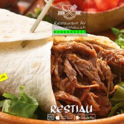 Burritos mit Kalbfleisch-Gemüsefüllung | Burritos | restiau