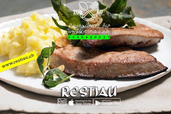 """Kalbsleber """"Zur Au Art"""" - Fleischgerichte - restiau - restaurant zur au - resti au"""