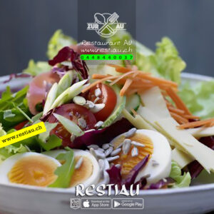 Chef-Salat mit Black Tiger (Crevetten) - Salate - restiau - restaurant zur au - resti au