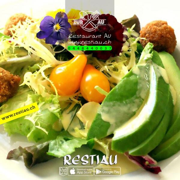 Chef-Salat mit Kalbsleber Streifen - Salate - restiau - restaurant zur au - resti au