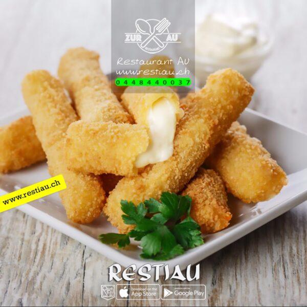 finger mozzarella (8 pieces) - Snacks - restiau - restaurant zur au - resti au