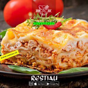 hausgemachte lasagne bolognese - Pasta - restiau - restaurant zur au - resti au