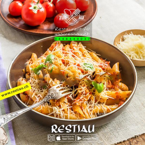 spaghetti-all-arrabbiata - Pasta - restiau - restaurant zur au - resti au